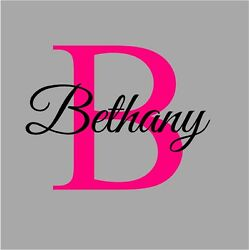 Name amp; Initial Monogram Fancy Girls Wall Sticker Vinyl Decals Lettering $16.99