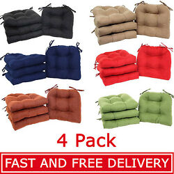 Set Of 4 Chair Cushion Pads Comfort Seat Patio Outdoor Garden For Furniture Sofa