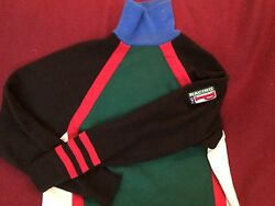 92  Polo Ralph Lauren Racing Sweater Mens Vintage P Wing Sport Ski Snow 1992