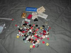 Sewing Buttons Lot Craft Supplies Assorted Buttons-new & used