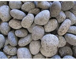 Lava Rock Pebbles Firepit Propane Nature Gas Cinder Fireplace 20 lb. Small Black