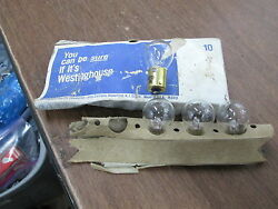 NOS Vintage Westinghouse Bulbs Motorcycle W1129 1129 QTY4
