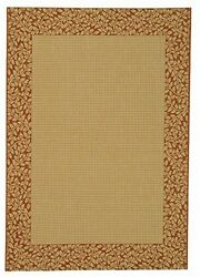 Safavieh Courtyard Collection CY0727-3201 Natural and Terra Indoor Outdoor Rug