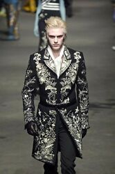 *WON'T BE RELISTED Alexander McQueen Fall 2006 $14000 embroidered cashmere coat
