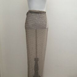Roberto Cavalli Beaded Long Sarong Wrap Skirt Beach Sarong Wrap Dress