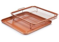 Gotham Steel Copper Crisper Tray AIR FRY IN YOUR OVEN As Seen on TV NEW $19.99