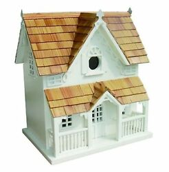 Gingerbread Cottage With Bracket Birdhouse Bird Home Pet Shelter Outdoor Decor