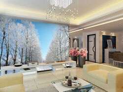 3D White Forest Trees 023 Wall Paper Wall Print Decal Wall AJ WALLPAPER CA