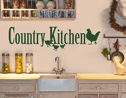 Country Kitchen Wall Decal Stickers $29.95