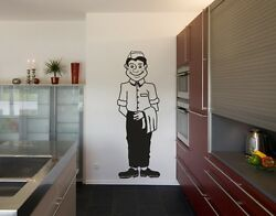 Waiter highest quality wall decal stickers $19.95