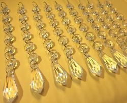 30pc Acrylic Crystals Chandelier Lead Lamp Prisms Parts Hanging Pendent Garland $15.99