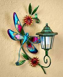 DRAGONFLY Solar Power Light Wall Fence Shed Garage Garden Outdoor Decor New
