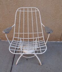 Vintage Mid Century Post 50's-60's Modern Homecrest Wire Patio Chair Furniture