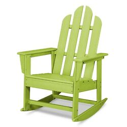 POLYWOOD Lime Adirondack Rocking Chair Durable High-Density Heavy-Duty Plastic