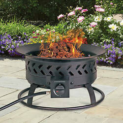 Portable Outdoor Patio Camping Propane Gas Wood Burning Camping Fire Pit New