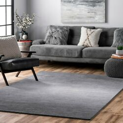 nuLOOM Hand Made Contemporary Modern Ombre Area Rug in Grey $106.99