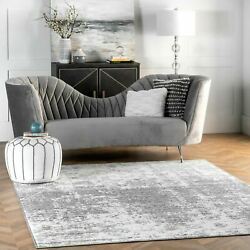 nuLOOM Contemporary Modern Abstract Deedra Area Rug in Grey Multi $35.99