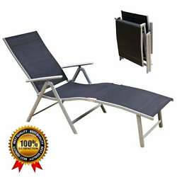 NEW Aluminum Beach Yard Pool Folding Chaise Lounge Chair Recliner Outdoor Patio