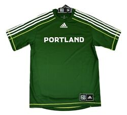 adidas MLS Mens Portland Timbers Climalite Soccer Jersey NWT S $9.99