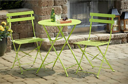 Outdoor Patio Furniture Table 2 Chairs Bistro Set Folding Chairs Garden Spring S
