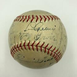 The Finest 1937 All Star Game Signed Baseball W Lou Gehrig Jimmie Foxx  JSA COA