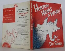 DR. SEUSS Horton Hears a Who! INSCRIBED EARLY PRINTING