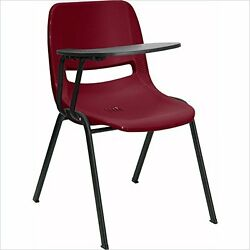 FLSH-RUTEO1BYRTABGG-Burgundy Ergonomic Shell Chair with Right Handed Flip-Up Ar