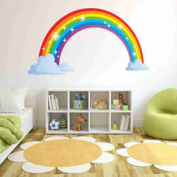 Sparkling Rainbow Wall Decal Wall Sticker Home Decor Wall Mural $29.95
