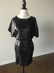 lulu#x27;s black sequin dress size M