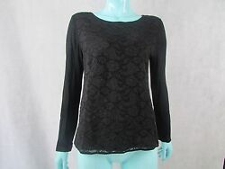SEE BY CHLOE SIZE 8 UK BUTTON BACK LACE FRONT DETAIL JUMPER TOP AUTHENTIC
