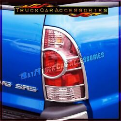 For TOYOTA Tacoma 2005 2012 2013 2014 2015 Chrome 2 Tail Light Lights Covers $34.98