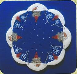 The Melt felted wool applique  penny rug candle mat quilt pattern