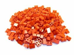 LEGO Red Brick Modified 1x2 Studs on 1 Side Lot of 100 Parts Pieces 11211 $8.09