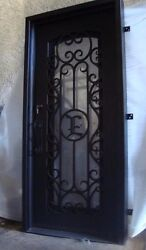 Hand-Crafted Custom Wrought Iron Entry Door 31