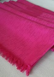 Hermes Women's Rose Hot Pink Scarf Stole Silk Cashmere