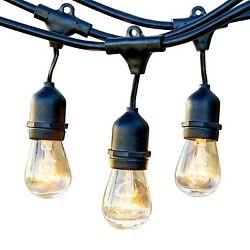 Patio Lights Outdoor String Hanging Commercial Cafe Weatherproof Versatile Party