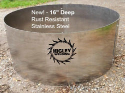 Fire Pit Ring Liner Insert Stainless Steel 30