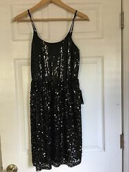 NWT Express size small black sequin dress