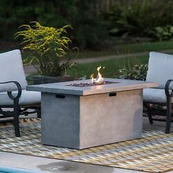 Large 52 in.Fire Pit Rectangle Deck Patio 50000 BTU with FREE Burner Cover