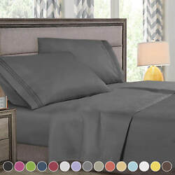 Super Deluxe 1800 Count Hotel Quality 4 Piece Deep Pocket Bed Sheet Set $21.99