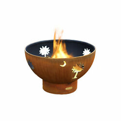 Fire Pit Art Tropical Moon Fire Pit Electronic Ignition Propane
