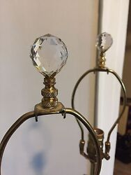 Beautiful Antique Lamps w Crystal topper. $130.00