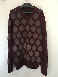 Angelo Galasso Python and Cashmere Sweater Mens 50 Large