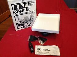 Vintage 1980s RoButler Remote Control Serving Tray Party Toy ~EUC! Tested!