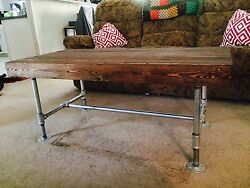 industrial wooden table $350.00