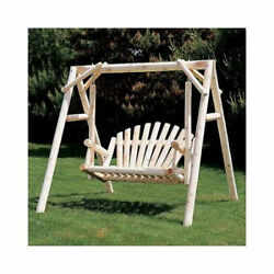 Rustic Natural Cedar Furniture Porch Swing with Stand Patio Outdoor Backyard New