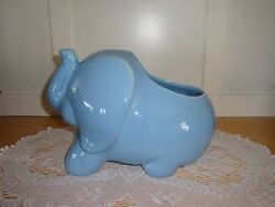 Cute Ceramic Elephant Planter-Garden- House-She Sheds-Deck-Patio-Porch-Wildlife