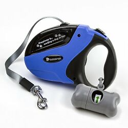 Beastron Heavy Duty 16ft Retractable Dog Leash up to 110lbs Waste Bag Dispenser