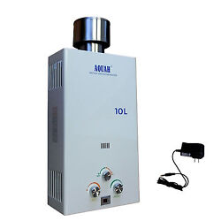 AQUAH® OUTDOOR NATURAL GAS NG TANKLESS WATER HEATER 10L 2.7 GPM WHOLE HOUSE