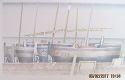TODÓ - FRANCES TODÓ GARCIA LITHOGRAPH SAIL BOATS ON BEACH - SIGNED ARTIST PROOF
